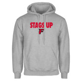Grey Fleece Hoodie-Stags Up