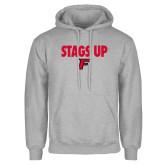 Grey Fleece Hood-Stags Up