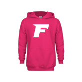 Youth Raspberry Fleece Hoodie-F