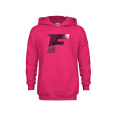 Youth Raspberry Fleece Hoodie-F Foil