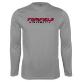 Performance Steel Longsleeve Shirt-Fairfield University Stacked