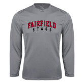 Syntrel Performance Steel Longsleeve Shirt-Fairfield Stags Stacked