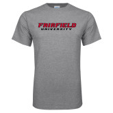 Grey T Shirt-Fairfield University Stacked