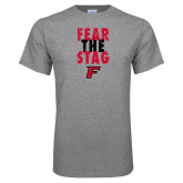Grey T Shirt-Fear the Stag Distressed