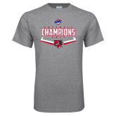 Grey T Shirt-2017 MAAC Softball Champions - Plate
