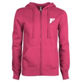 ENZA Ladies Fuchsia Fleece Full Zip Hoodie-F
