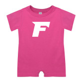 Bubble Gum Pink Infant Romper-F