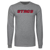 Grey Long Sleeve T Shirt-Stags