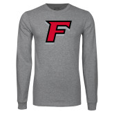 Grey Long Sleeve T Shirt-F
