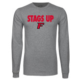 Grey Long Sleeve T Shirt-Stags Up