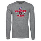 Grey Long Sleeve T Shirt-2017 MAAC Softball Champions - Diamond