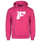 Fuchsia Fleece Hood-Official Logo