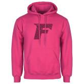 Fuchsia Fleece Hoodie-F Hot Pink Glitter