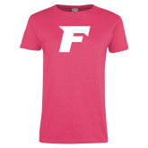Ladies Fuchsia T Shirt-F
