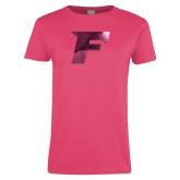 Ladies Fuchsia T Shirt-F Foil