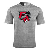 Performance Grey Heather Contender Tee-Official Logo