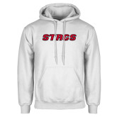 White Fleece Hoodie-Stags