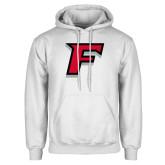 White Fleece Hoodie-F