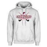White Fleece Hoodie-2017 Field Hockey Champions