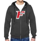 Charcoal Fleece Full Zip Hood-Stags