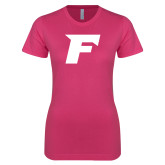 Ladies SoftStyle Junior Fitted Fuchsia Tee-F