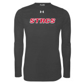 Under Armour Carbon Heather Long Sleeve Tech Tee-Stags