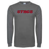 Charcoal Long Sleeve T Shirt-Stags