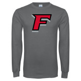Charcoal Long Sleeve T Shirt-F
