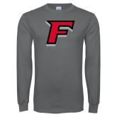 Charcoal Long Sleeve T Shirt-F