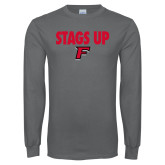 Charcoal Long Sleeve T Shirt-Stags Up