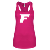 Next Level Ladies Raspberry Ideal Racerback Tank-F