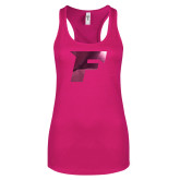 Next Level Ladies Raspberry Ideal Racerback Tank-F Foil