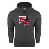 Charcoal Fleece Hood-Official Logo