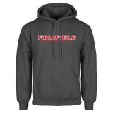 Charcoal Fleece Hood-Fairfield University Stacked