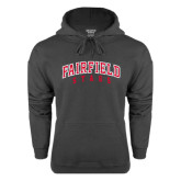Charcoal Fleece Hood-Fairfield Stags Stacked