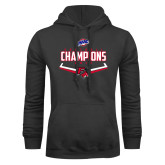 Charcoal Fleece Hood-2017 MAAC Softball Champions - Plate