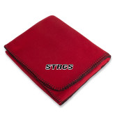 Red Arctic Fleece Blanket-Stags