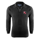 Black Rib 1/4 Zip Pullover-Official Logo