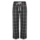 Black/Grey Flannel Pajama Pant-Stags