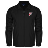 Full Zip Black Wind Jacket-F