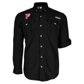 Columbia Bahama II Black Long Sleeve Shirt-F