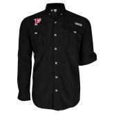 Columbia Bahama II Black Long Sleeve Shirt-F