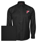 Red House Black Herringbone Non Iron Long Sleeve Shirt-F