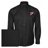 Red House Black Herringbone Long Sleeve Shirt-F