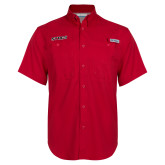 Columbia Bonehead Red Short Sleeve Shirt-Stags