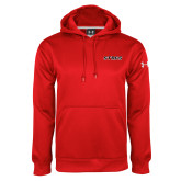 Under Armour Red Performance Sweats Team Hoodie-Stags