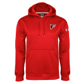 Under Armour Red Performance Sweats Team Hoodie-F