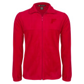 Fleece Full Zip Red Jacket-Official Logo