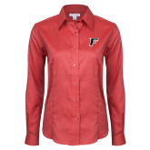 Ladies Red House Red Long Sleeve Shirt-F