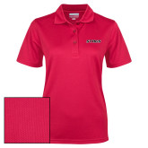 Ladies Red Dry Mesh Polo-Stags